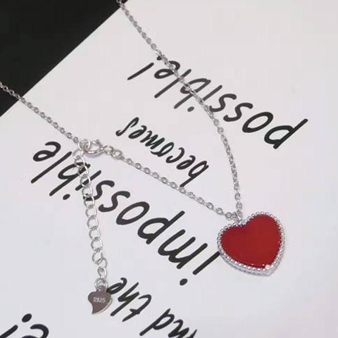 新款心形项链-亚西亚银饰批发、925银饰批发、泰银批发、纯银批发