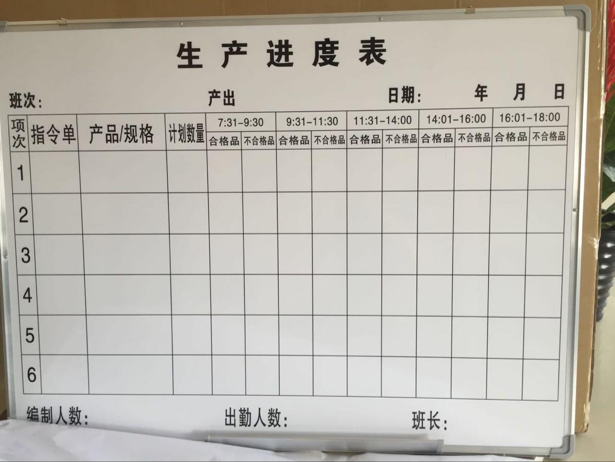 深圳白板工厂定制各种规格白板表格白板办公教学白板大白板深圳发货