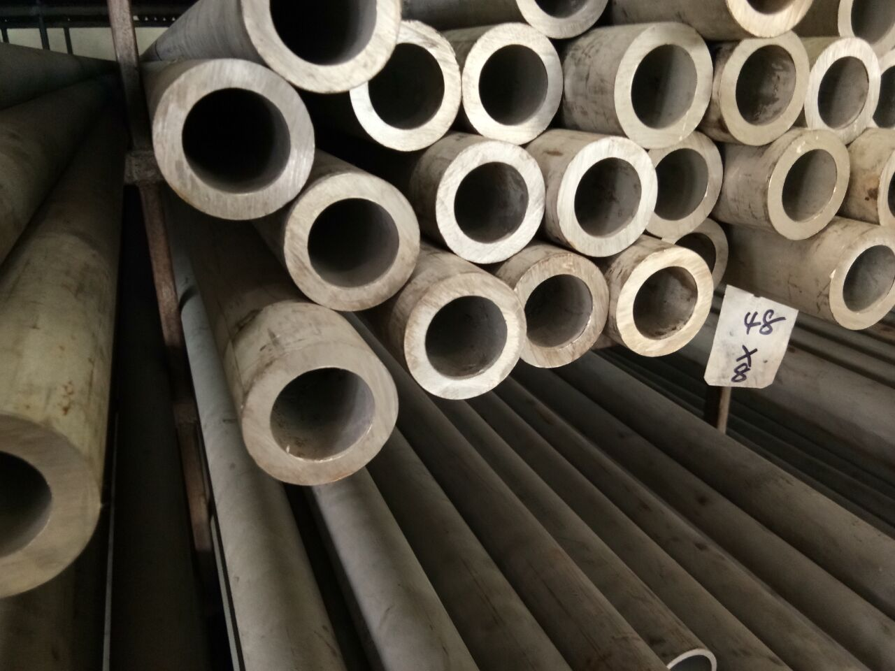 不锈钢磨沙扁管不锈钢114×65厘无缝管