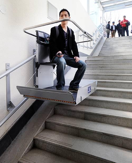 安徽合肥 、 宜春市直销启运斜挂式无障碍升降平台 XJL-025 斜挂式电梯