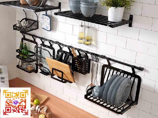五金批发太空铝厨房置物架厨房挂件墙上刀架调味收纳架