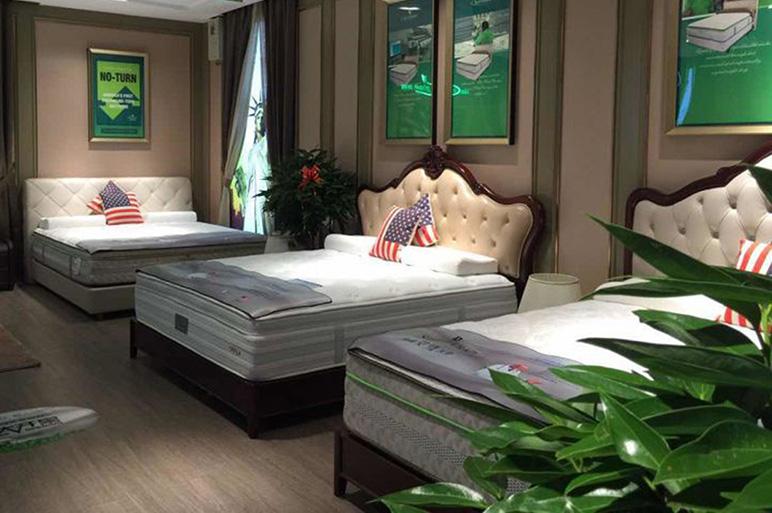 美国艾绿床垫绿色环保床垫批发