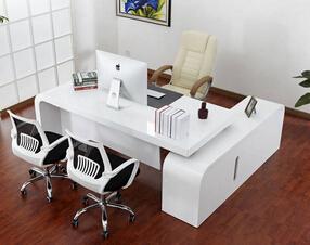 现代款烤漆总裁桌班台
