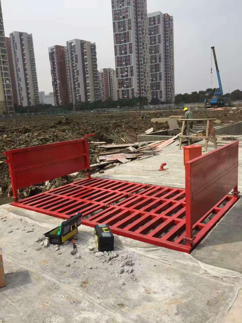 荆州市工地自动洗车机-安装调试