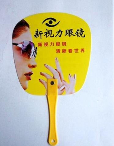广州制作广告扇、PP扇子厂家、广告扇印刷