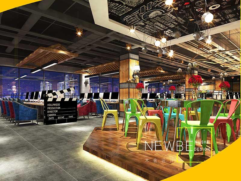 太原装饰公司名称找专业的太原网咖网吧设计就上木舍装饰设计工程