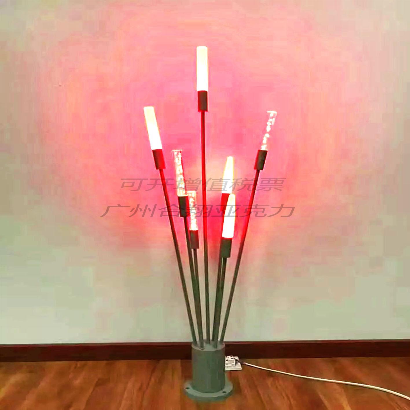 供应亚克力灯泡棒  气泡透明多颜色 有机玻璃荧光管