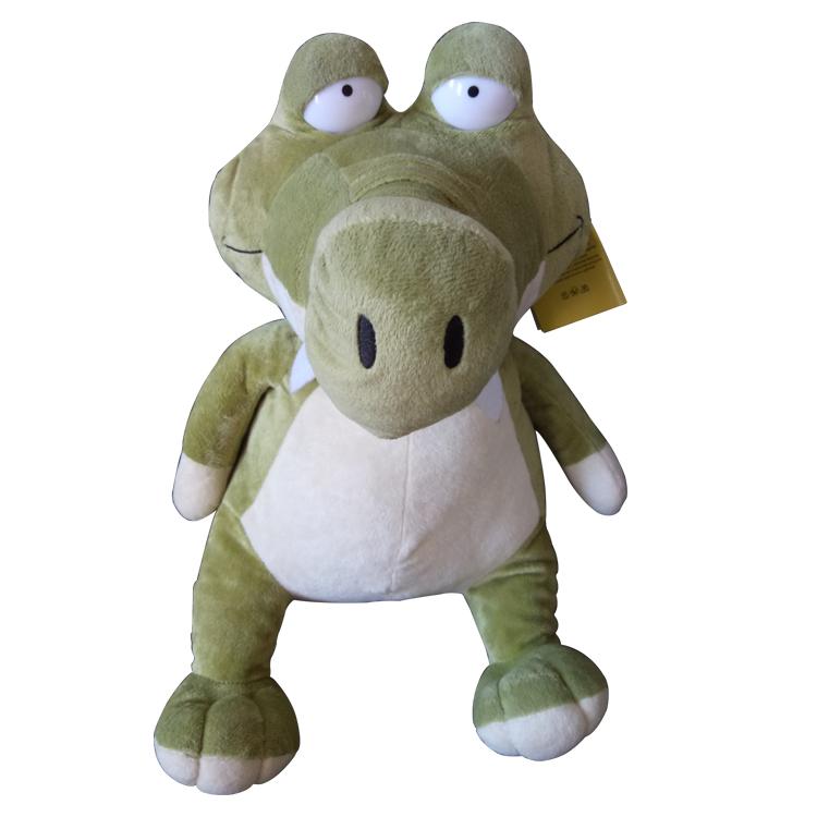 小鳄鱼毛绒公仔娃娃来图来样定制 毛绒玩偶工厂可印LOGO