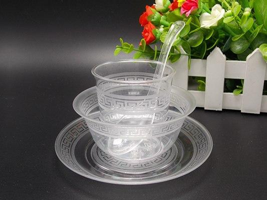 厂家销售一次水晶餐具质量保证 量大价优、洛阳一次水晶餐具