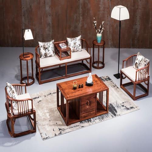 紫檀实木沙发定制-明式实木沙发定制-新中式沙发圆明轩
