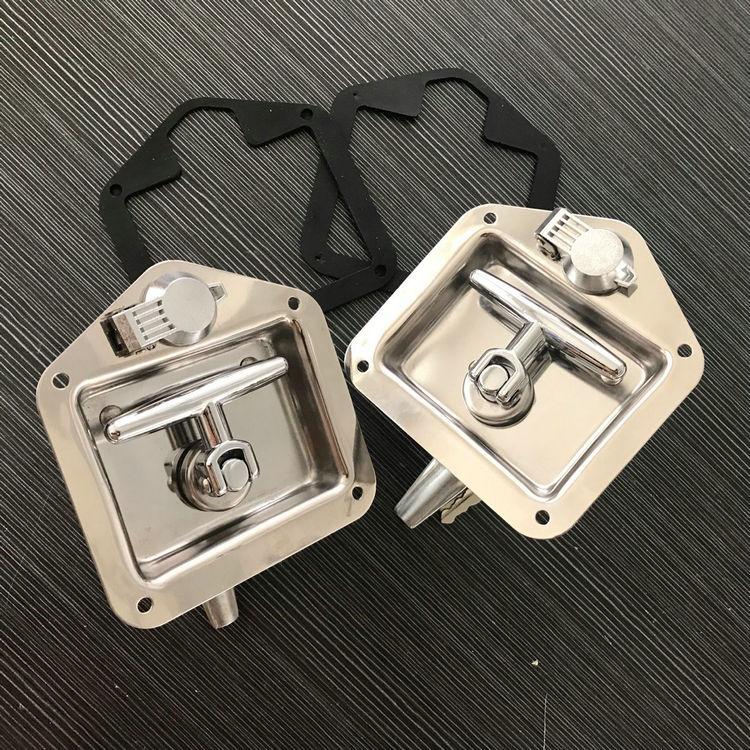 友航SD124系列不锈钢T型面板柜锁平面折叠转舌锁