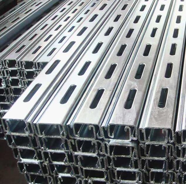 鸡西Q345B光伏发电镀锌C型槽钢,切割加工