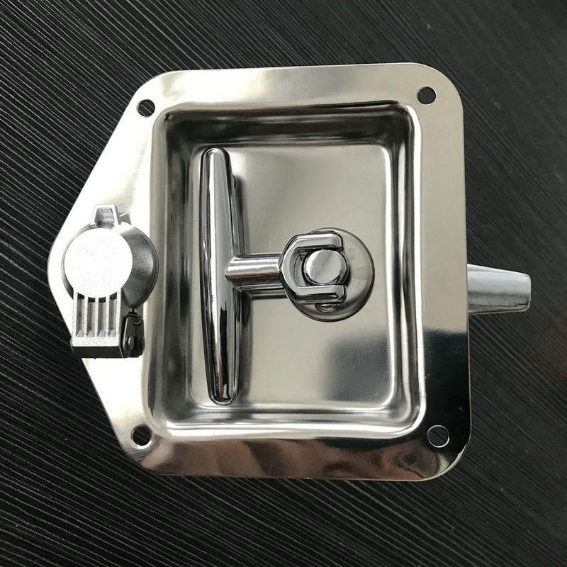 友航供应SD124-1S不锈钢汽车工具箱T型拉手面板锁