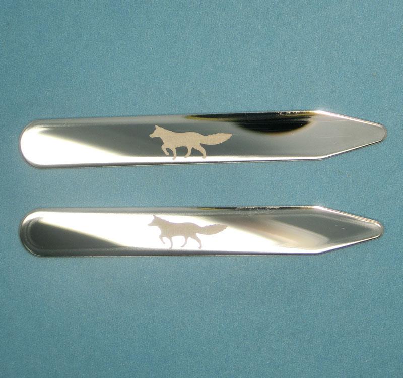 聚会纪念品金属领撑片不锈钢领插竹
