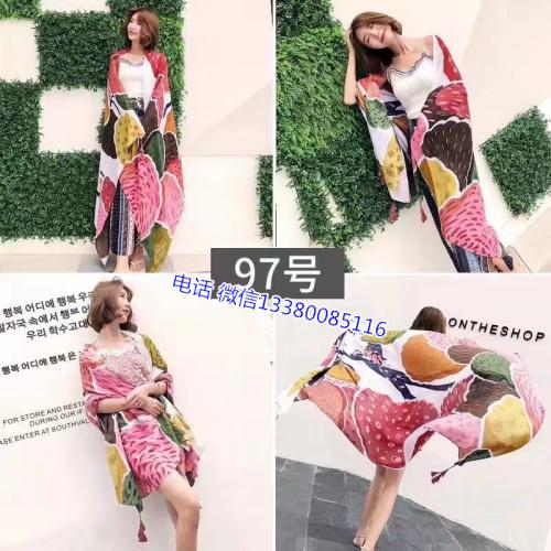 广州女装围巾批发市场厂家一手货源丝巾印花外贸出口女士围巾批发