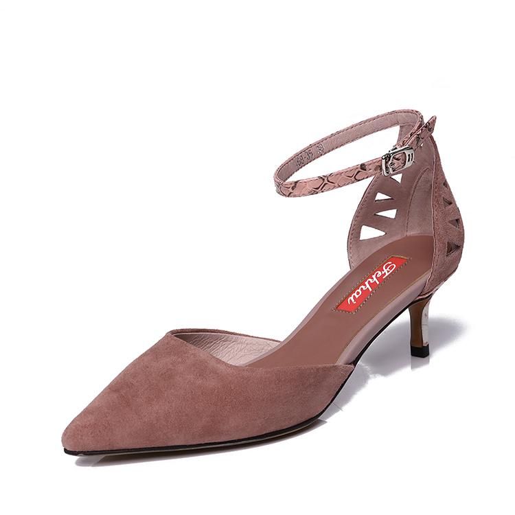 Fekkai 品牌凉鞋 尖头凉鞋 全真皮凉鞋 时尚凉鞋 细跟凉鞋
