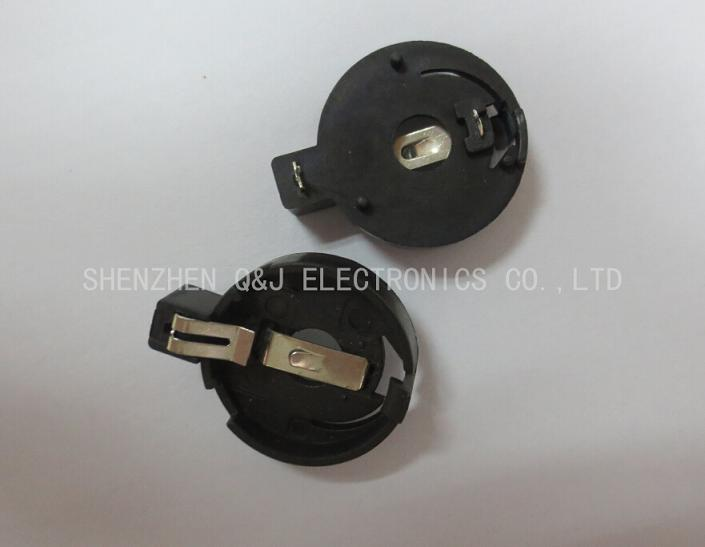 CR2032插脚塑胶座CR2032-4纽扣电池座