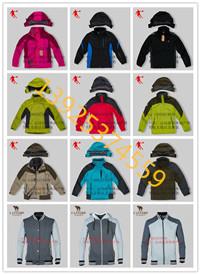 厂家直销户外冲锋衣两件套滑雪服国内一二线运动品牌服装尾货库存批发