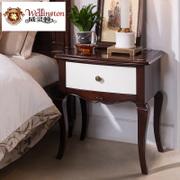 美式床边柜生产-广东爆款美式卧室床边柜出售