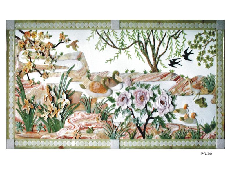 大量出售广东优质的别墅整体装饰 玉石装饰画