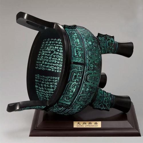 西安青铜克鼎 西安办公桌克鼎摆件 西安办公桌铜鼎工艺品摆件 西安铜鼎摆件厂家批发