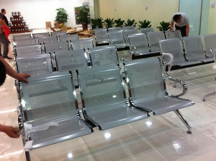 天津公共不锈钢排椅、候诊椅单人双人三人专业定制