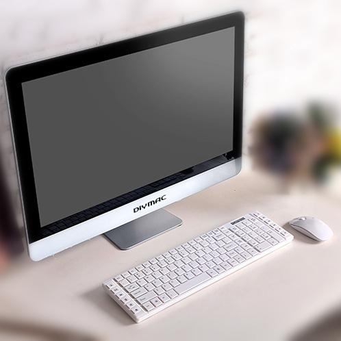 DIYMAC/狄迈一体机电脑 苹果款超薄i3/i5/i7性价比组装一体机 网咖一体机电脑 生产批发
