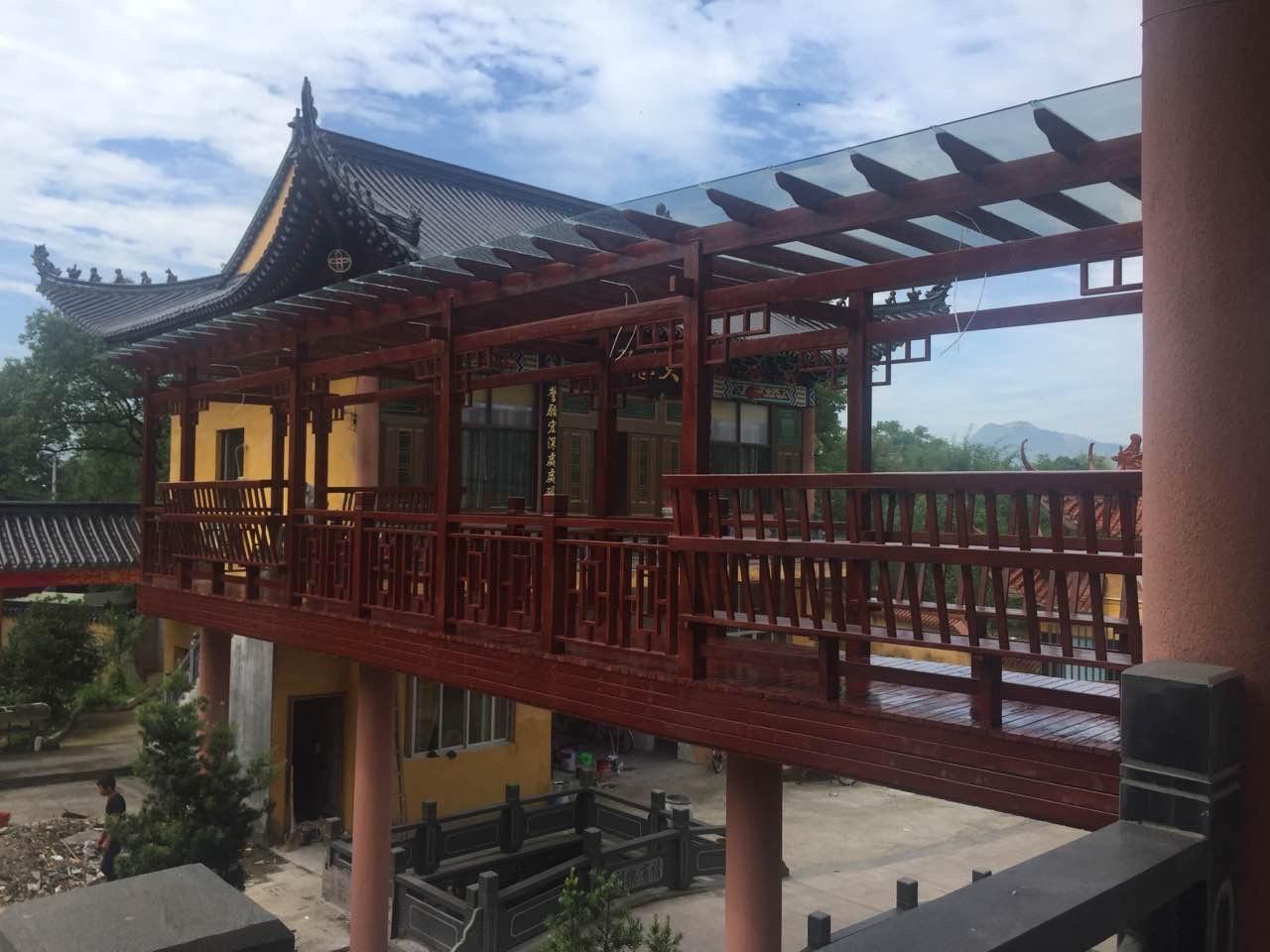 泰顺县防腐木走廊工程、木质走廊设计安装