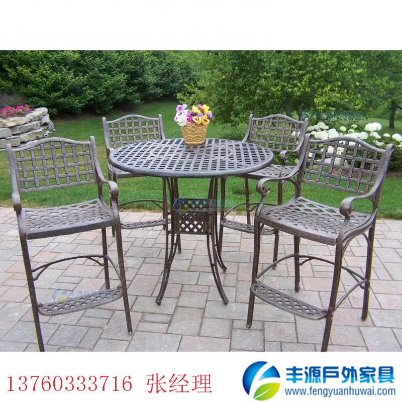 昆明户外家具铸铝桌椅图片