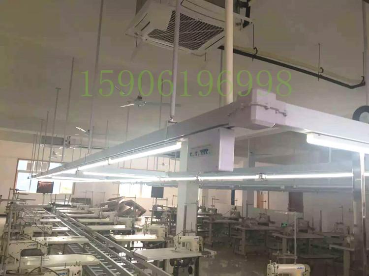 服装母线槽供应车间动力桥架,照明灯架,高级裁剪台