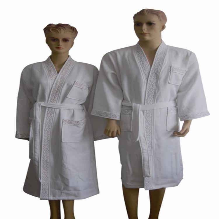 梦妃丝厂家直销批发供应全棉割绒浴袍居家浴衣情侣浴袍定制