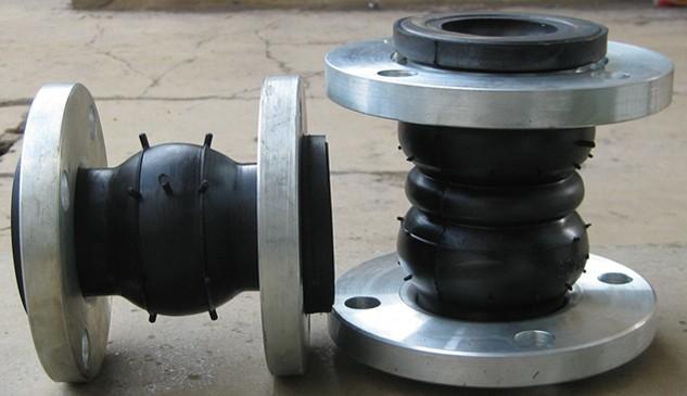 橡胶软接使用头可曲挠橡胶然接头软连接的安装