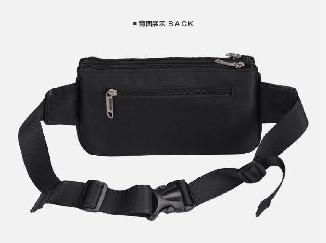 订制logo便携男士女通用户外小腰包新款时尚尼龙胸包运动腰包就选:罗莱皮具有限公司