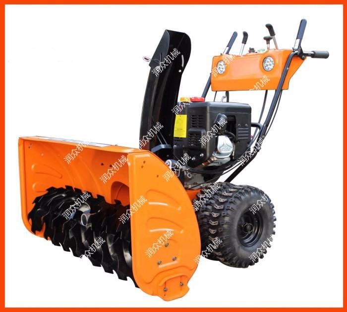 宣威大马力汽油扫雪机宣威小型手推式抛雪铲雪机