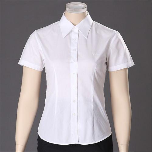 白云区夏季短袖白衬衫男士修身纯色商务工装职业正装衬衣加大码男装寸衫定制批发