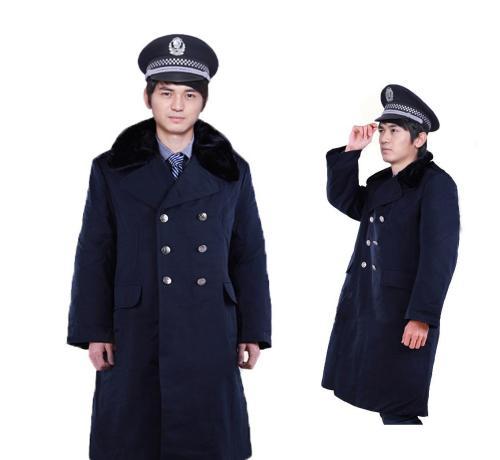 花都区守门员保安服大衣定制-花都企业定制保安服大衣-定做冬季保安服大衣厂家
