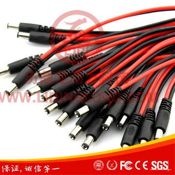2.1/2.5DC公头转T插公头 模型电源连接器插接件