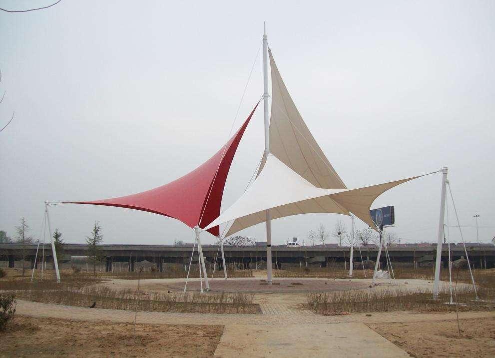 义县上海如筱膜结构停车棚活动棚推拉篷充电桩蓬1