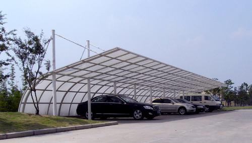 东港上海如筱膜结构停车棚活动棚推拉篷充电桩蓬6