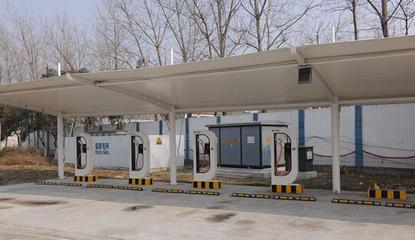 太和上海如筱膜结构停车棚活动棚推拉篷充电桩蓬8