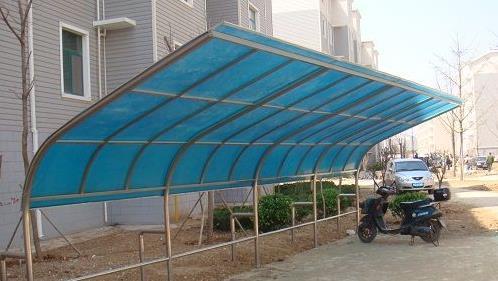 凌海上海如筱膜结构停车棚活动棚推拉篷充电桩蓬7
