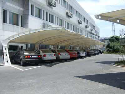 古塔上海如筱膜结构停车棚活动棚推拉篷充电桩蓬1