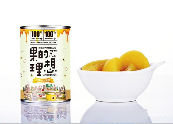 黄桃罐头水果罐头 果的理想奇伟罐头