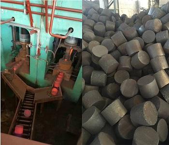 铁屑热压成饼机、铁屑压饼机设备、热压成型设备生产线