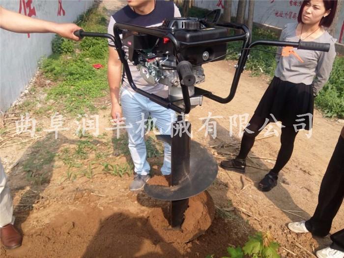 蛟河果园施肥种植挖坑机加长钻头支架式挖坑机