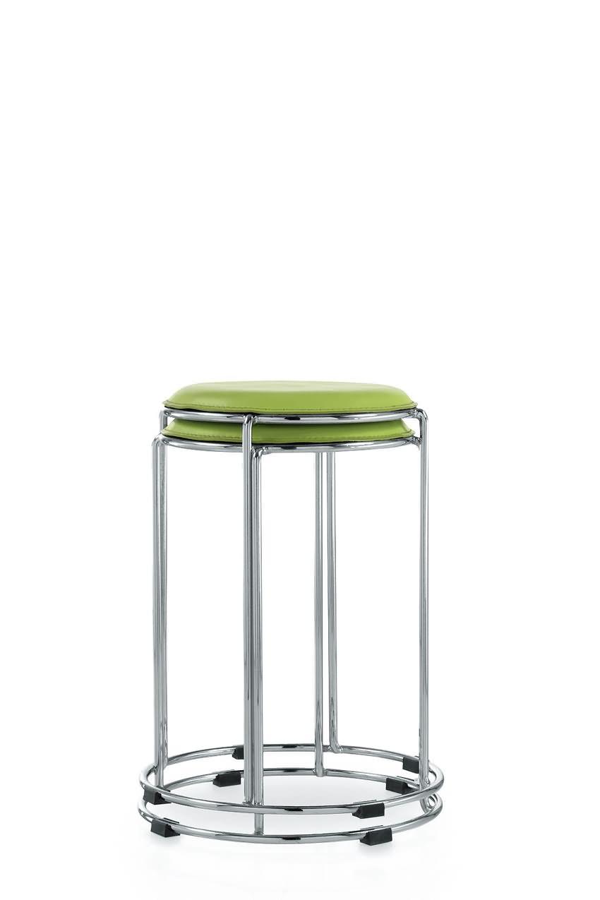 休闲家用小餐凳不锈钢圆凳子简易高圆椅子