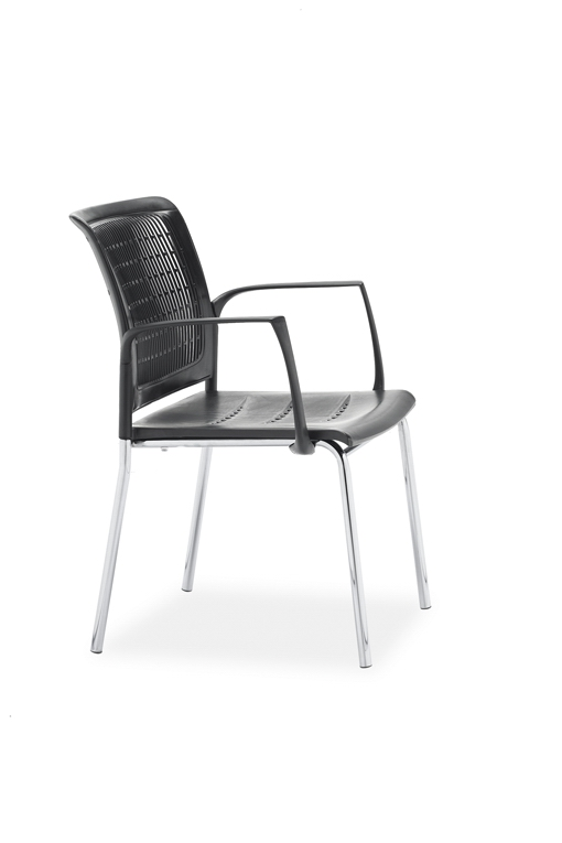 虹桥会议椅培训椅简约办公椅职员电脑椅网布四角固定椅