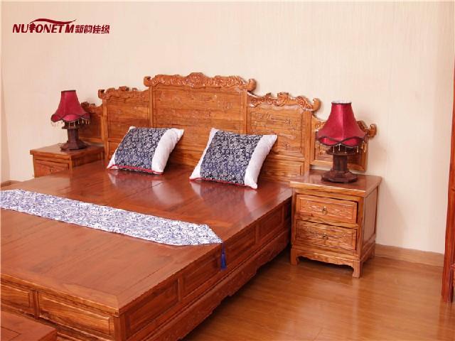 新韵佳缘家具优质双人床供应商、双人实木床生产厂家