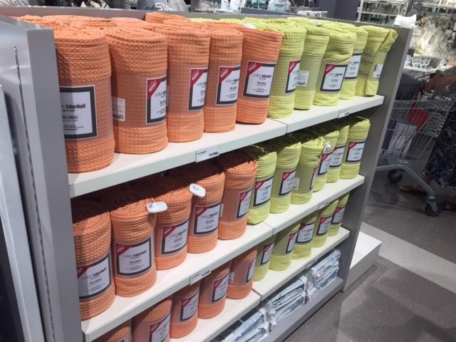 色织水洗华夫格毯子