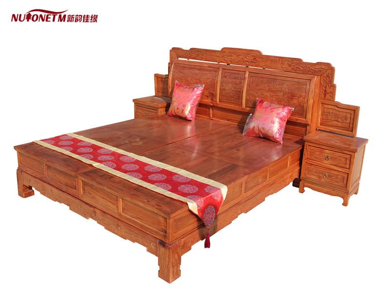 福建双人实木床、爆款双人床新韵佳缘家具供应